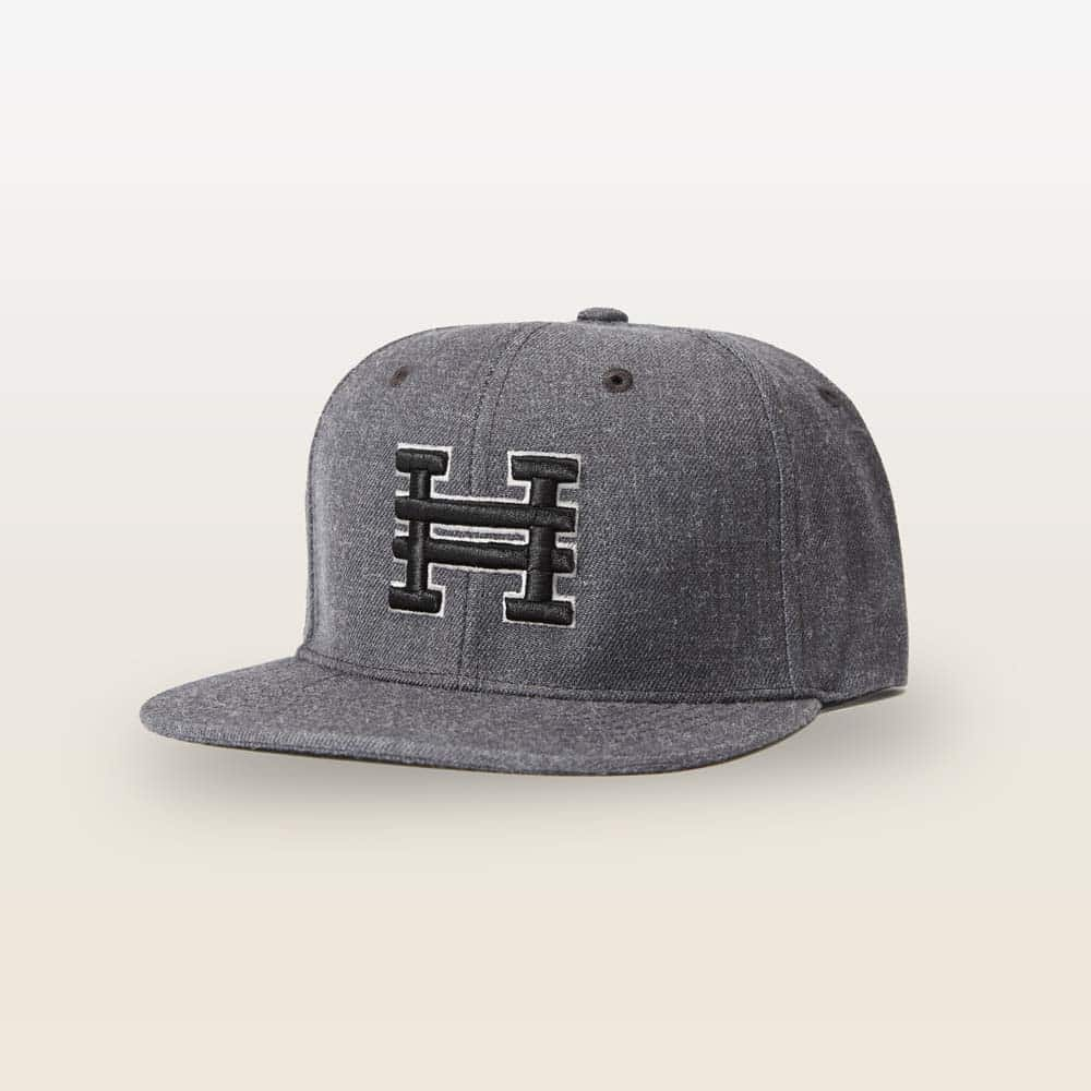 Heather Gray Snap Back Hat